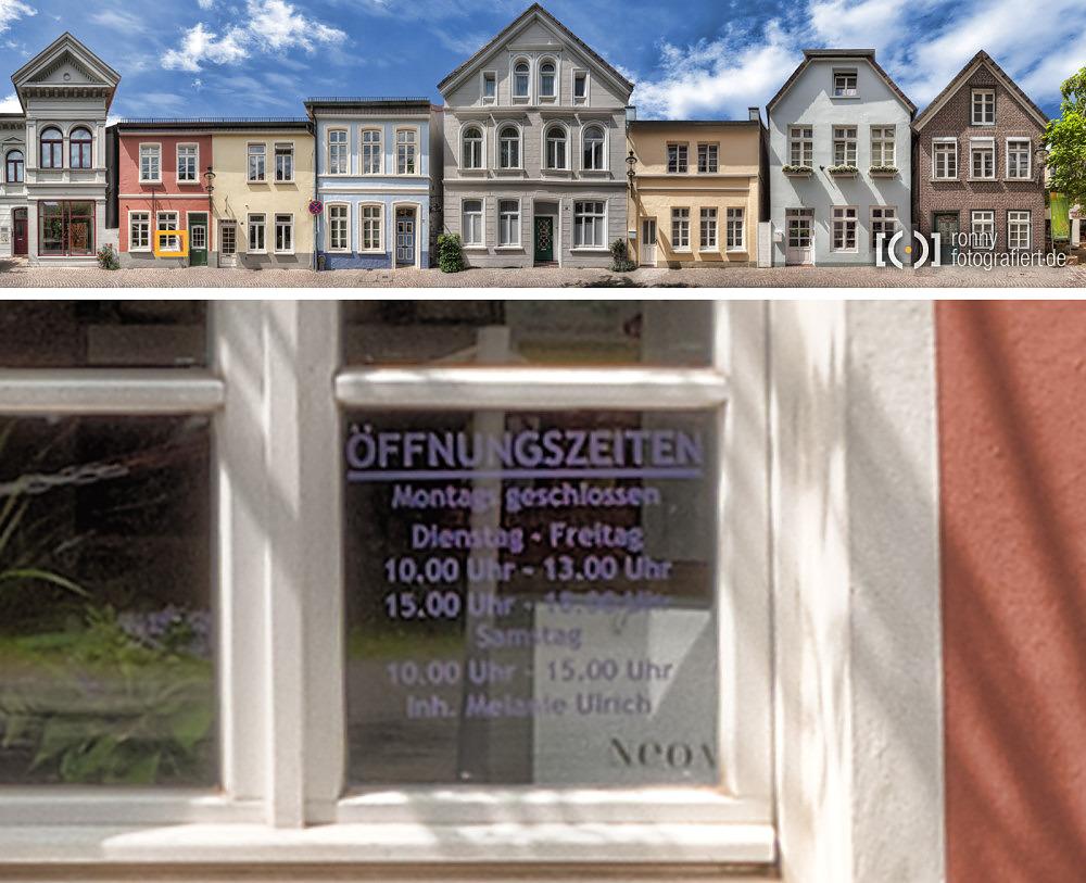Foto Bergstraße Oldenburg Strassenzugpanorama - Details von Ronny Walter