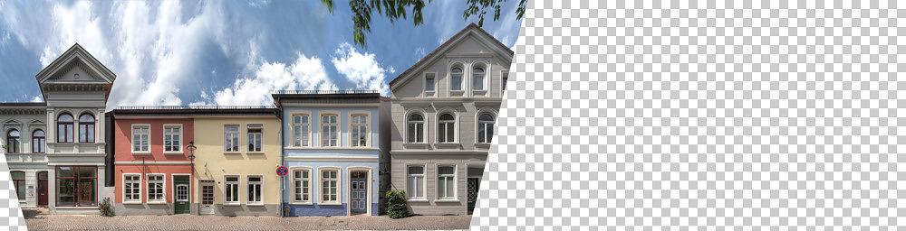 Foto Bergstraße Oldenburg Strassenzugpanorama - Montage von Ronny Walter