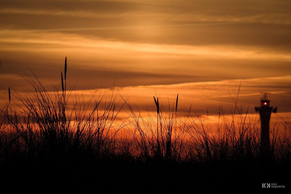 Foto Sonnenuntergang auf Wangerooge von Bärbel Stork
