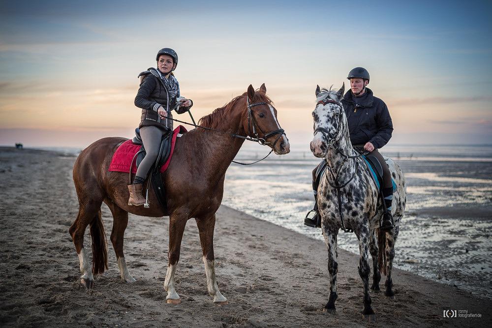 Foto Reiten am Strand von Schillig von Ronny Walter