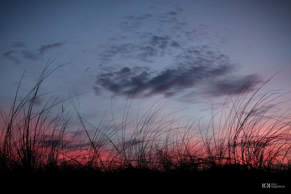 Foto Sonnenuntergang am Strand von Schillig von Bärbel Stork