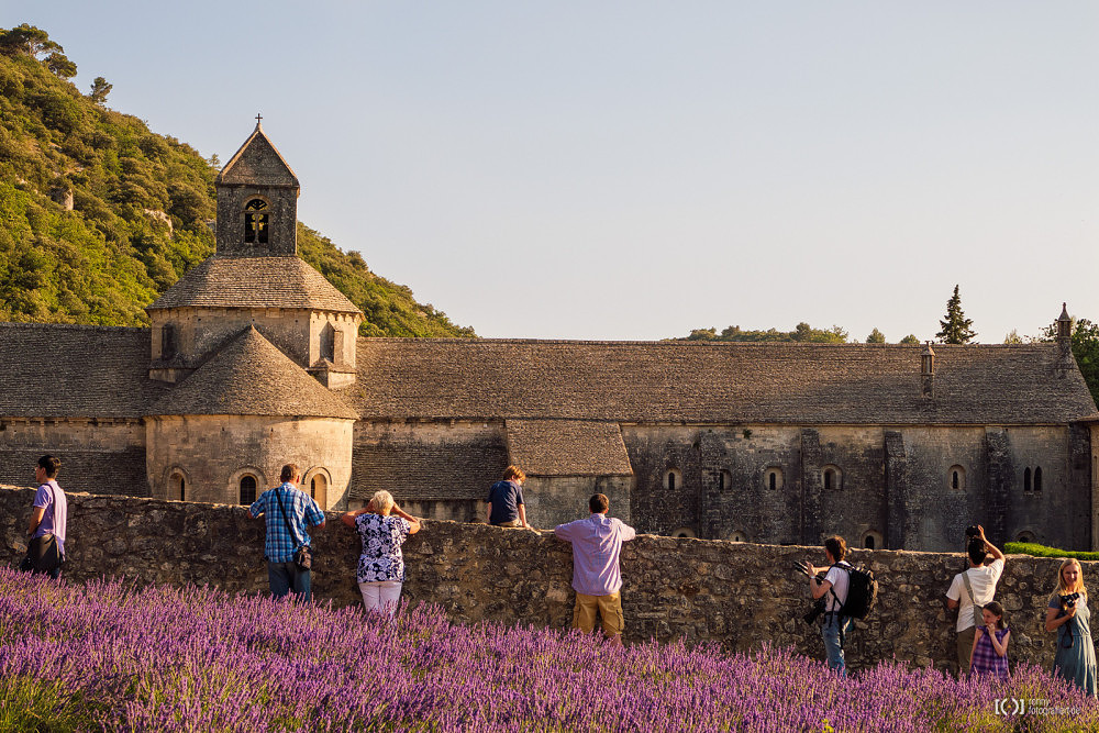 Foto Abtei von Sénanque - So entsteht das Postkartenmotiv von Bärbel Stork