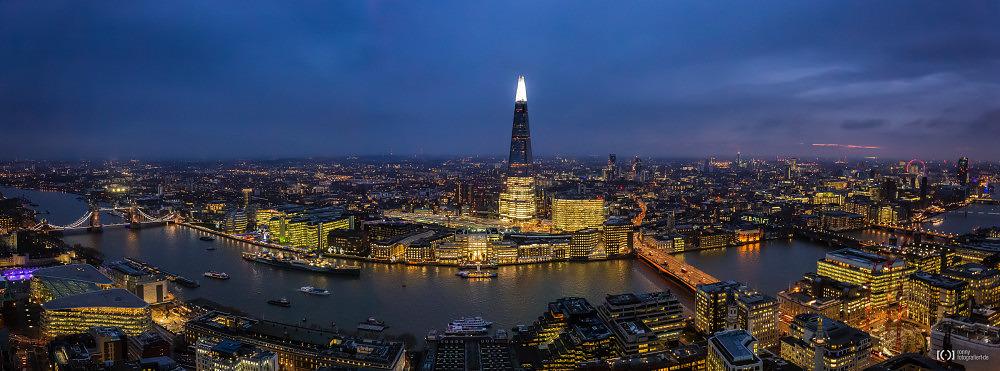 Foto Sky Garden Panorama mit Tower Bridge, The Shark bis London Eye von Ronny Walter
