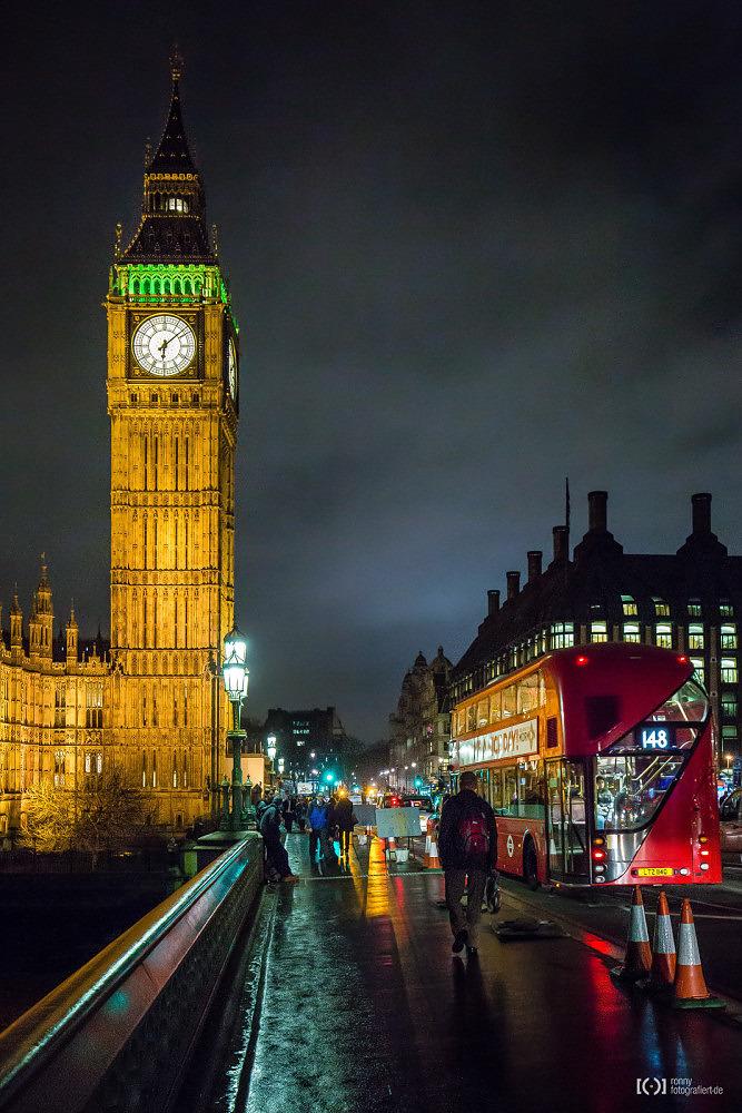 Foto Big Ben und Routemaster von Ronny Walter